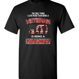 Fathers Day Shirt For Veteran Grandpa TShirt
