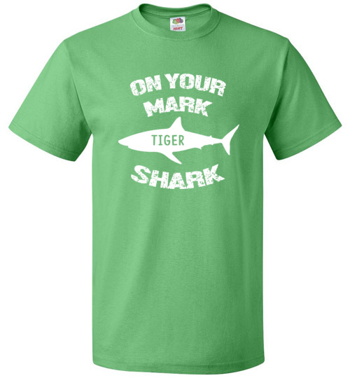On Your Mark Tiger Shark Barron Trump Tee Shirt