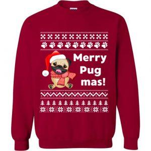 Merry Pugmas Christmas Sweater Funny Gift for Pug Lovers