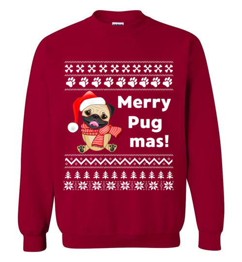 294447cd Merry Pugmas Christmas Sweater Funny Gift for Pug Lovers