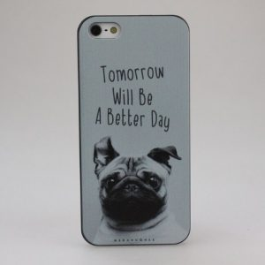 Tomorrow Will Be A Better Day Pug Face phone Case_type1