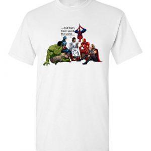 JESUS AND SUPERHEROES funny Tee Shirt