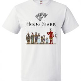 House Stark Game of Thrones and Iron Man Tee Shirt