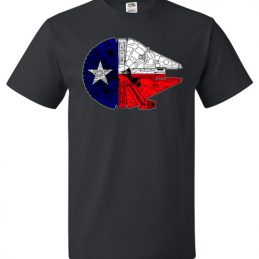 $18.95 - Texas Flag And The Millennium Falcon T-Shirt
