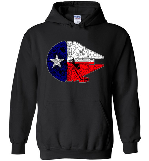 $32.95 - Texas Flag And The Millennium Falcon Hoodie