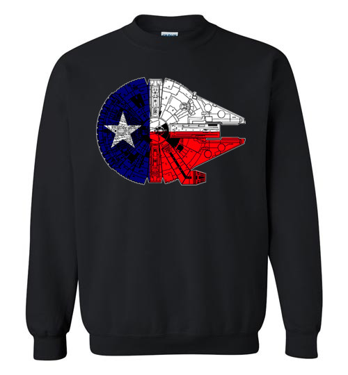 $29.95 - Texas Flag And The Millennium Falcon Sweater