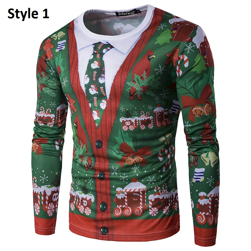 3d printing ugly christmas sweater men 2017 - Christmas Sweaters Men