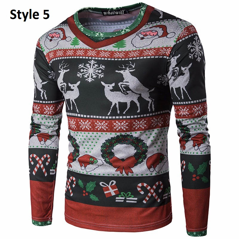 Christmas Sweaters For Men.3d Printing Ugly Christmas Sweater Men 2017