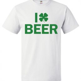 $18.95 - I Clover Beer Funny St. Patrick's Day T-Shirt