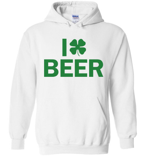 $32.95 - I Clover Beer Funny St. Patrick's Day Hoodie
