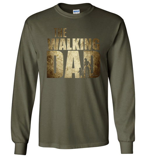 $23.95 - The Walking Dad Canvas Long Sleeve T-Shirt