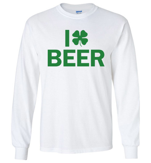 $23.95 - I Clover Beer Funny St. Patrick's Day Canvas Long Sleeve T-Shirt