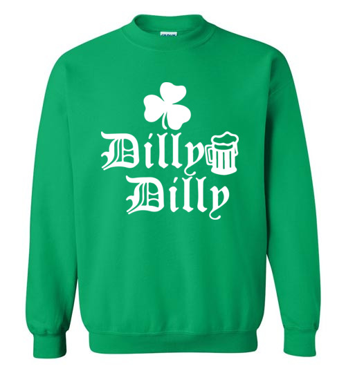 ST Patricks Day Dilly Dilly Clover Funny Beer Drinking Mens Green T Shirt
