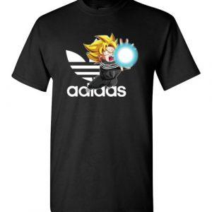 $18.95 - Dragonball: Songoku Kamehameha Adidas Funny T-Shirt