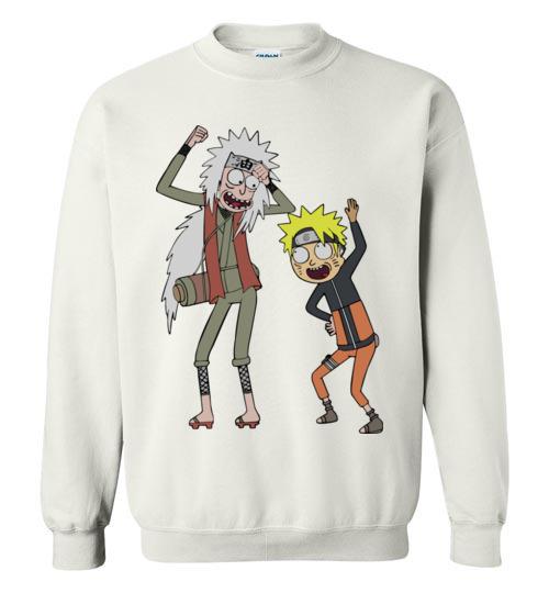 $29.95 - Rick and Morty – Naruto and Jiraiya Funny Sweatshirt