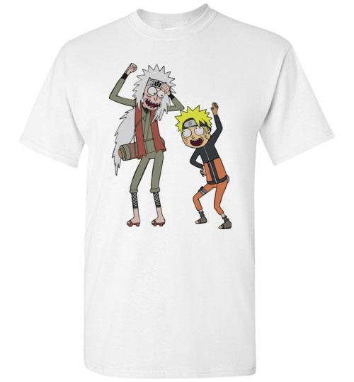 $18.95 - Rick and Morty – Naruto and Jiraiya Funny T-Shirt