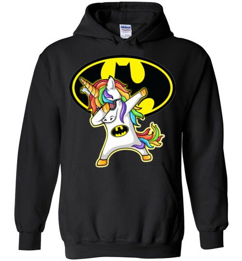 $32.95 - Batman funny Shirts: Unicorn Dabbing Funny Hoodie