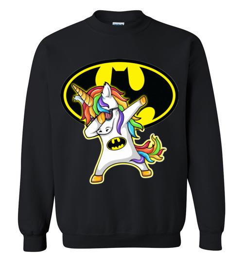 $29.95 - Batman funny Shirts: Unicorn Dabbing Funny Sweatshirt