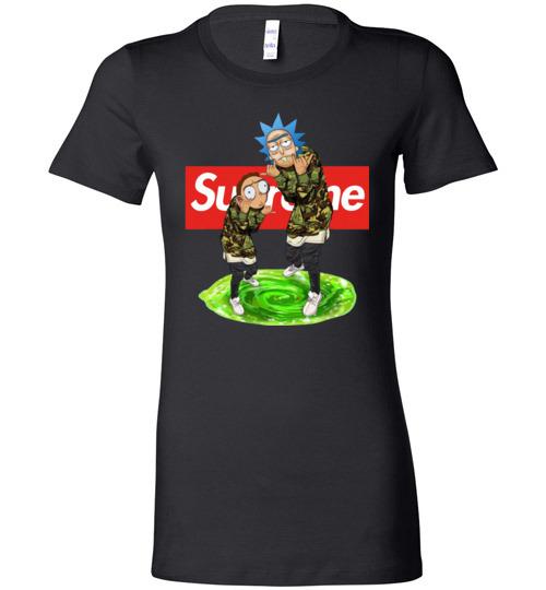 $19.95 - Rick and Morty Supreme funny Lady T-Shirt