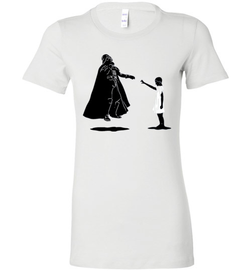 $19.95 - Stranger Things: Eleven vs Darth Vader funny Lady T-Shirt