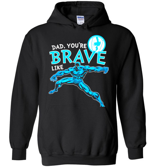 $32.95 - Marvel funny Shirts: Black Panther Brave Dad Father's Day Graphic Hoodie