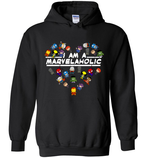 $32.95 - Marvel funny Shirts: I am a Marvelaholic Hoodie