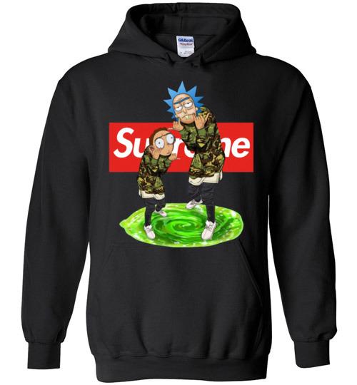 $32.95 - Rick and Morty Supreme funny Hoodie