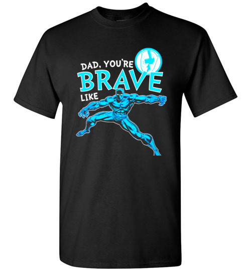 $18.95 - Marvel funny Shirts: Black Panther Brave Dad Father's Day Graphic T-Shirt