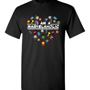 $18.95 - Marvel funny Shirts: I am a Marvelaholic T-Shirt
