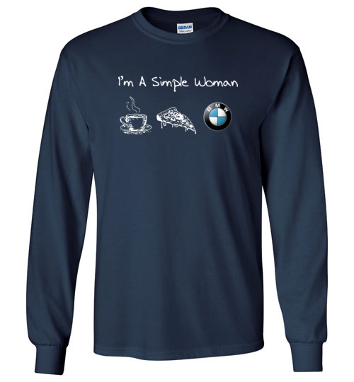 Simple A Bmw Pizza I'm Woman Likes Shirts Funny Coffee And zLGpUMVqS