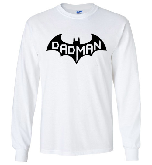 $23.95 - DadMan Funny Batman Shirts for Dad in Father's Day Long Sleeve