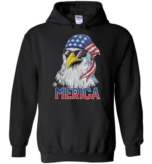 $32.95 – 4th of July Eagle mullet Merica Hoodie