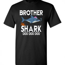 $18.95 - Brother Shark Doo Doo Doo Funny Family T-Shirt