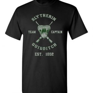 $18.95 - Funny Harry Potter Shirts: Slytherin Quidditch Team Captain T-Shirt