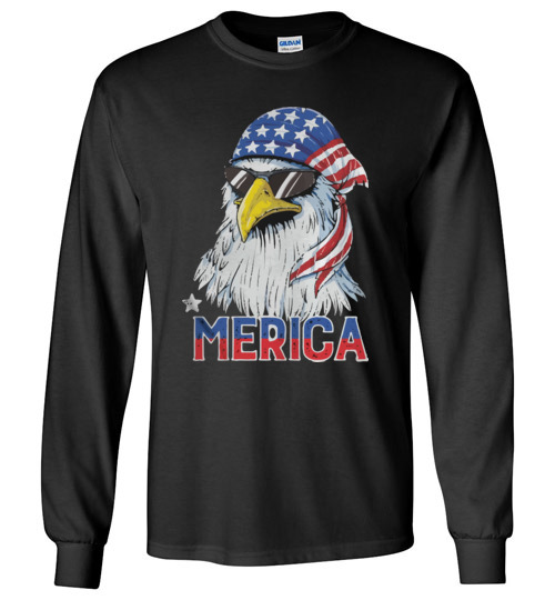 $23.95 – 4th of July Eagle mullet Merica Long Sleeve