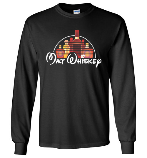$23.95 - Malt Whiskey funny Walt Disney Shirts for wine drinker Long Sleeve T-Shirt