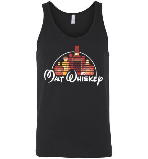 $24.95 - Malt Whiskey funny Walt Disney Shirts for wine drinker Unisex Tank