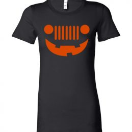 $19.95 - Funny Happy Jeepinit Halloween shirts: pumpkin jeep Lady T-Shirt