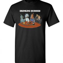 $18.95 - Drinking buddies - Funny Rick and morty's Szechuan Sauce, Ailen drinking shirts for drinkers T-Shirt