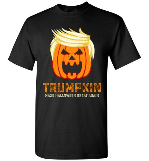 7d5fe90d7 $18.95 – Trumpkin make halloween great again funny Halloween funny T-Shirt
