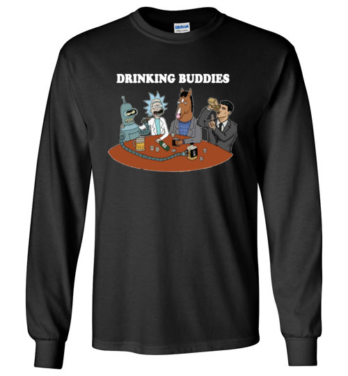 $23.95 - Drinking buddies - Funny Rick and morty's Szechuan Sauce, Ailen drinking shirts for drinkers Long Sleeve Shirt