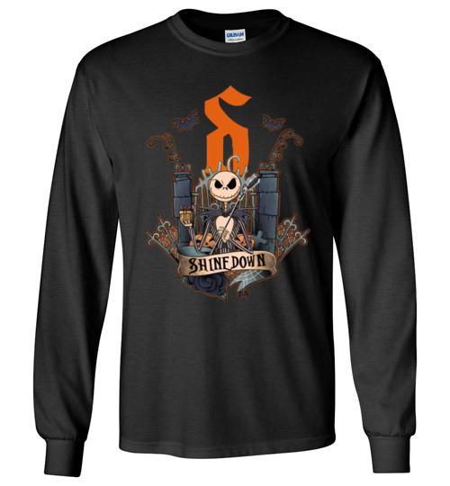 2395 funny halloween shirts jack skellington shinedown long sleeve shirt