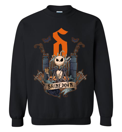 Jack Skellington Shinedown T Shirt Hoodie Ugly Christmas Sweater