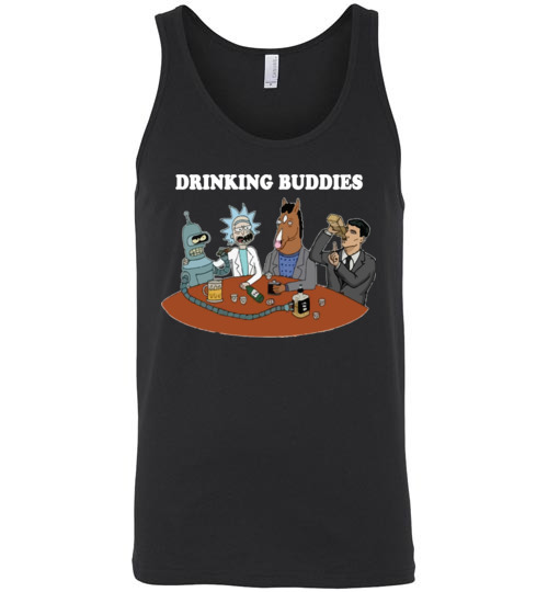 $24.95 - Drinking buddies - Funny Rick and morty's Szechuan Sauce, Ailen drinking shirts for drinkers Unisex Tank