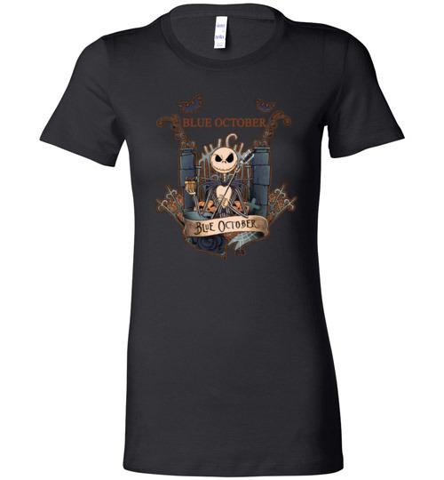 $19.95 - Jack Skellington Blue October Lady T-Shirt