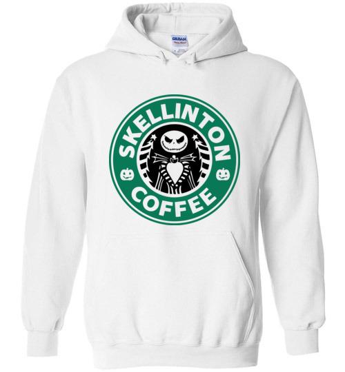 $32.95 - Jack Skellinton Coffee funny Hoodie