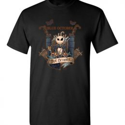 $18.95 - Jack Skellington Blue October T-Shirt