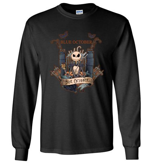 $23.95 - Jack Skellington Blue October Long Sleeve Shirt