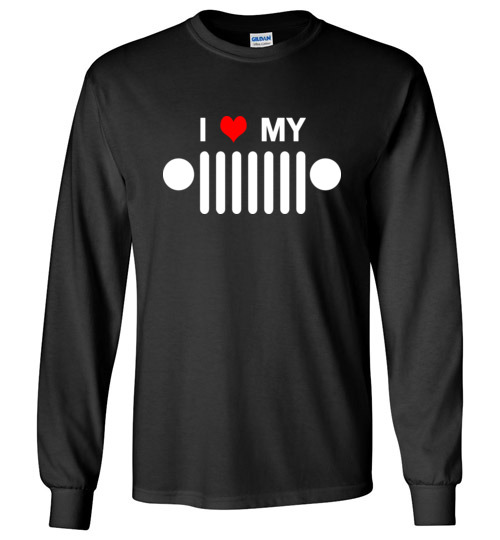 $23.95 - I heart my jeep funny Jeep lover's Long Sleeve Shirt