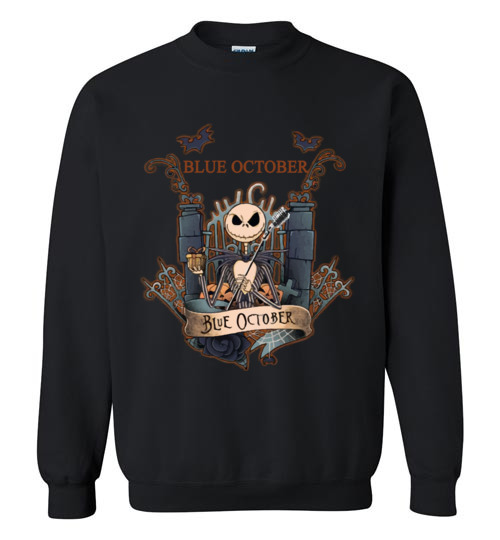 $29.95 - Jack Skellington Blue October Sweatshirt